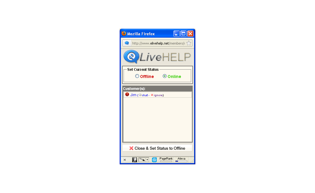 eLiveHelp – eBay Live Chat Seller Application